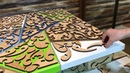 Kitchen Table made of Wood and Epoxy Кухонный Стол из Дерева и Эпоксидной Смолы