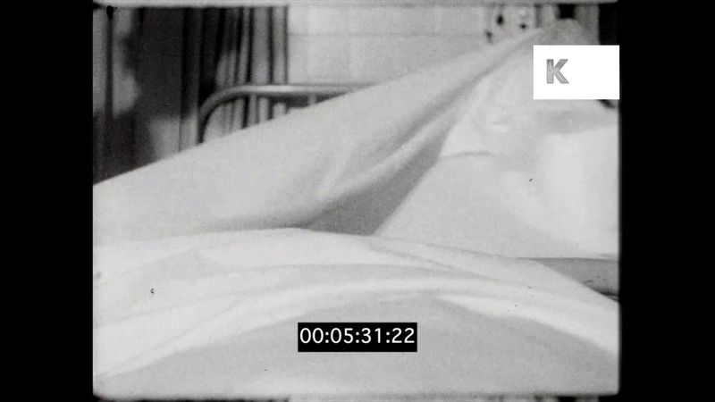 Doctors Nurses on 1950s Hospital Ward, UK, HD