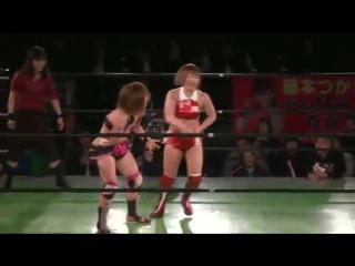 5. -Ozaki-Gun- Arisa Nakajima, Mayumi Ozaki, Tsukasa Fujimoto, Yumi Ohka vs. Koharu Hinata, Rabbit Miyu, Sareee, Yuuka (3/14/16)