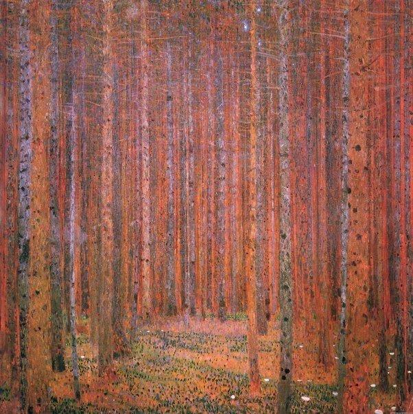 "Густав Климт, ""Еловый лес"", 1901 г."