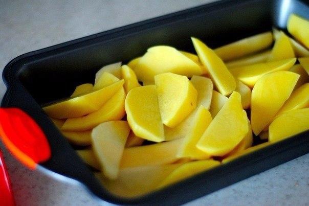 Пряный картофель с беконом Время приготовления — 30