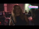 Jennifer Coolidge & Bret McKenzie greeting fans while departing Harmony Gold Theater