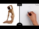 Proko Figure drawing fundamentals - 01 Gesture - Gesture Quicksketch - 2 Minute Pose (2)
