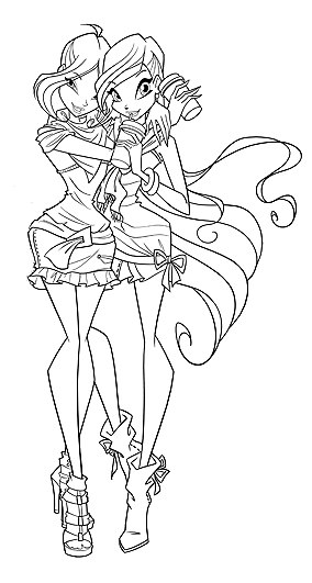 Winx the proffesionals colouring pages - Winx Flora Season 5 Colouring Pages