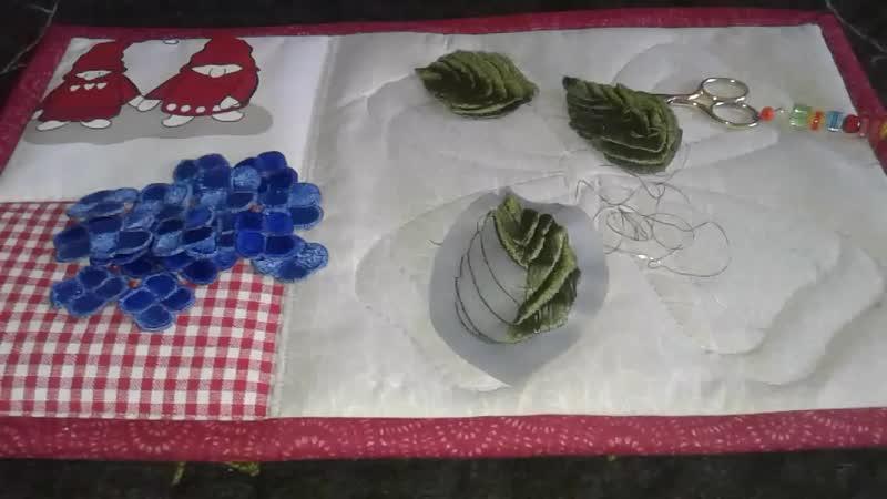 Текущий процесс вышитого одеяла Веточка гортензии