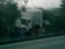 Падение грузовика с крана-манипулятора.