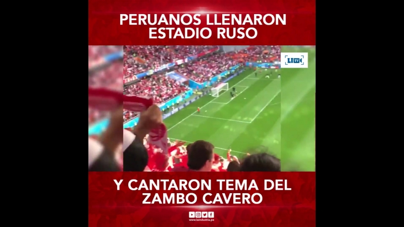 Peruanos cantando Contigo Perú del Sambo Cavero