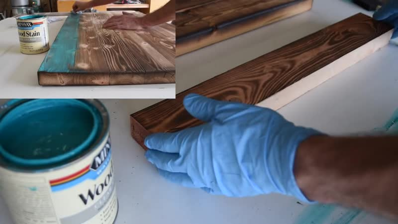Stained Shou Sugi Ban Yakisugi Tutorial __ How to Burn Wood with Color