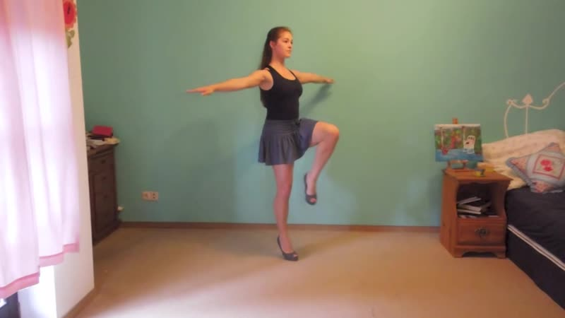 Working out in High Heels -exercises for legs (thighs,quads,calves,hamstrings,hi