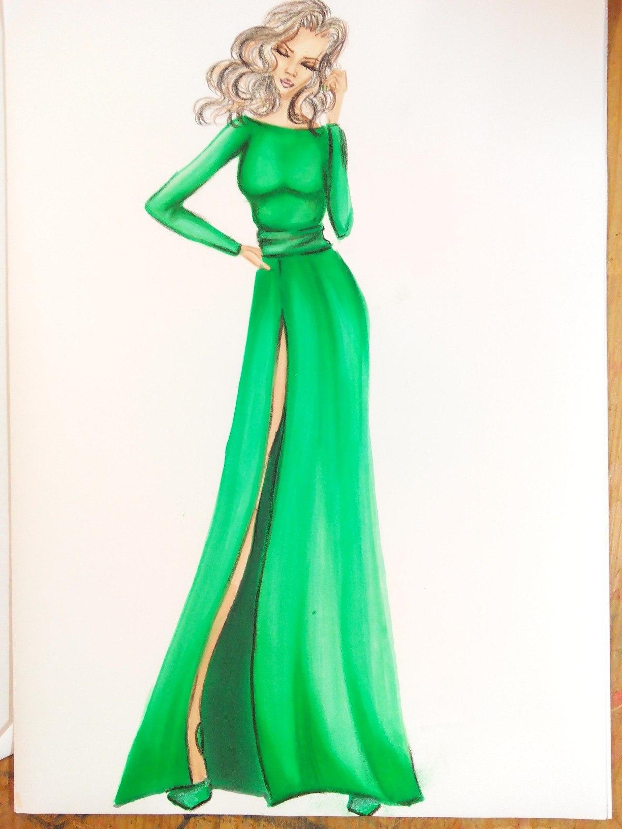 Evening dresses sketches