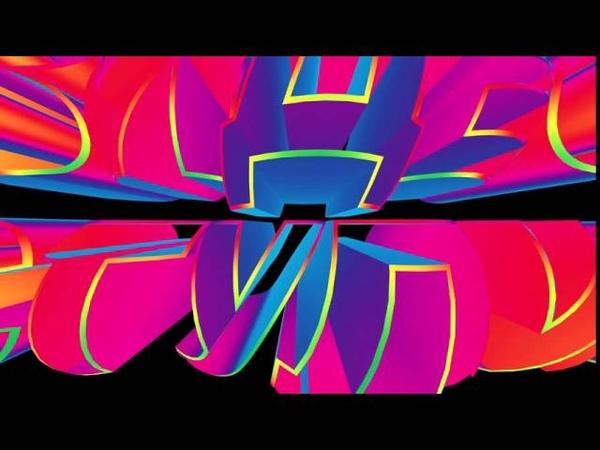 Футаж 3D титров ВИДЕОСТУДИЯ с радужным эффектом