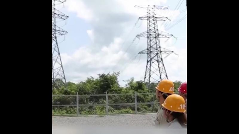 Станция электропередачи мощностью 230 киловольт, протянувшийся в Камбодже от Пномпеня до Баттамбанга