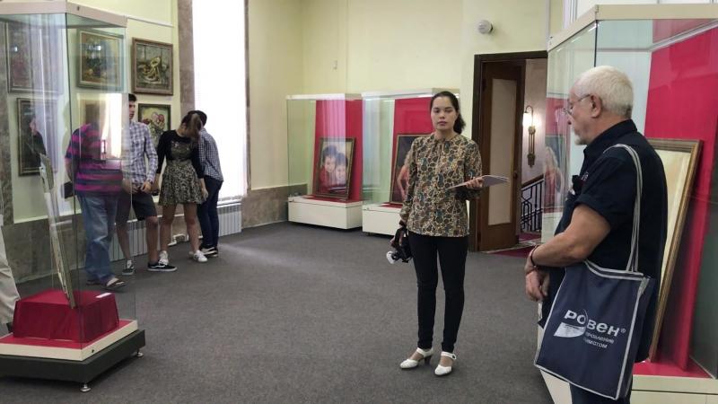 А.Катаргин на выставке в г.Жукове. Август 2018