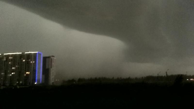 Начало урагана в Барнауле