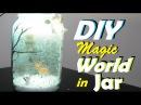 Decoupage on Jar Upsidedown Decoupage | A Magical World in a Jar