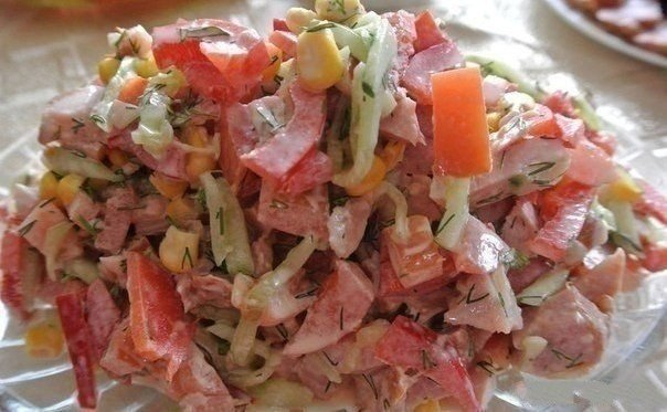 "HOME-MADE ""ПАРИЖЕЛЬ&quot SALAD; + confidential ingredient which will surprise! The HUSBAND AND CHILDREN ADORE IT \ud83d\ude0b Is unreal tasty and simply! I advise to prepare :) Ingredients: - 2 cucumbers (to remove a skin) to Show the recipe completely.\"""