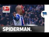 Spiderman Celebration Brilliant Gesture from Herthas Ben-Hatira