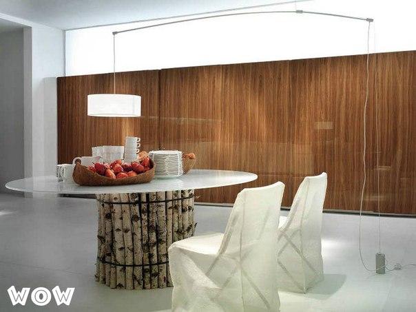 Эко-стиль кухни, интересная идея оформления кухни, креативные идеи для кухни
