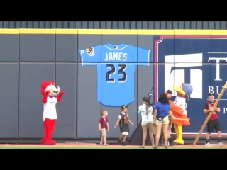 LeBron James has his number retired by his hometown minor league baseball team, the Akron