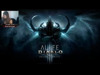 Девушка впервые играет в Diablo 3! Reaper of Souls