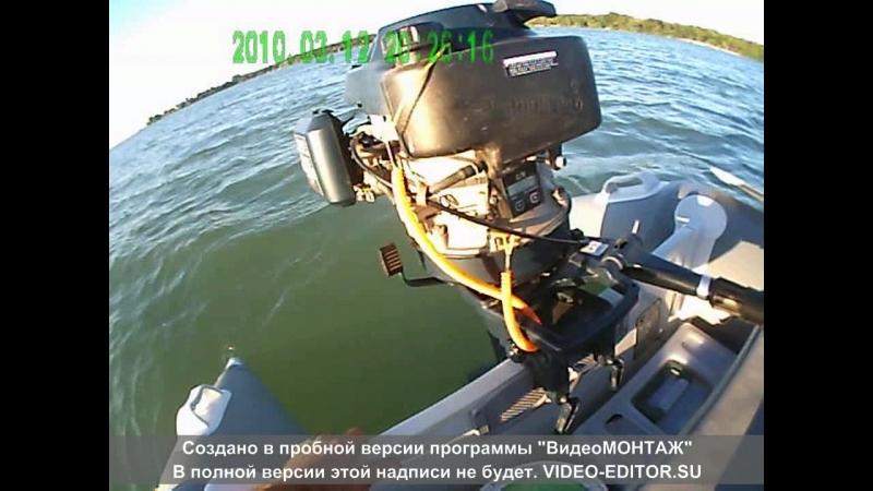 Лодка BADGER (Fishing Line-270) под ПЛМ с центробежным сцеплением, гибрид 5 л.с. ( часть -1 )