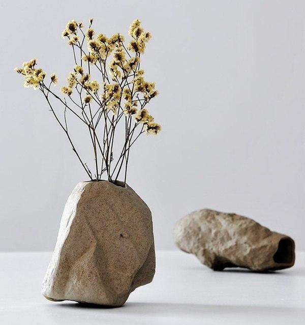 Керамические вазочки в виде камней -