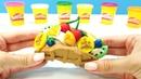 El waffle de play-doh. Jugar con plastilina. Vídeo infantil.