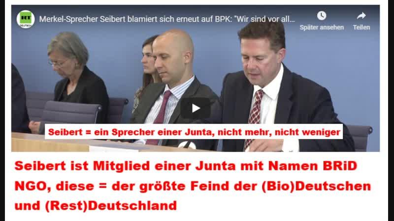 Merkel Sprecher Seibert blamiert sich erneut auf BPK Wir sind vor allem auch gar kein Regime