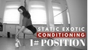 1/5 Exotic Pole Dance - Static Conditioning Positions (Lunge)