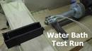 Filament Extruder 8 Water Bath Update and Test Run