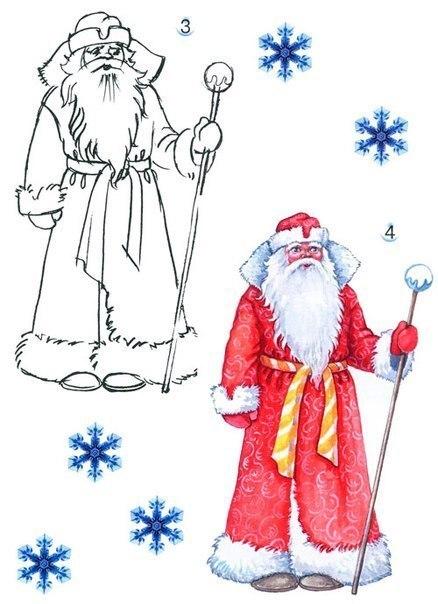 Часть 3 - Рисуем Деда Мороза