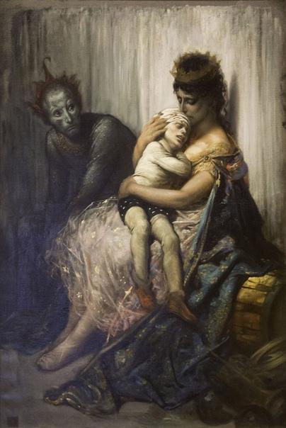 Два варианта картины «Семья акробата» Гюстaва Доре