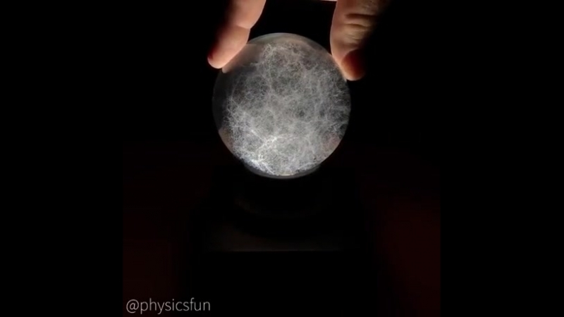 A 3D mapping model of a chunk of the universe 380 000 laser etched dots in a glass sphere each represent a galaxy and the dia