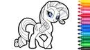 My little pony. Rarity. Coloring for kids.Мой маленький пони.