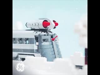 Какие двигатели были установлены на крыше поезда?