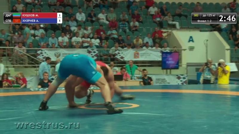 ЧР-18. Вольная. 125 кг. Финал. Мурадин Кушхов - Анзор Хизриев