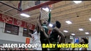 DON'T JUMP WITH JALEN LECQUE! Baby Westbrook Best Dunks From His Junior Year