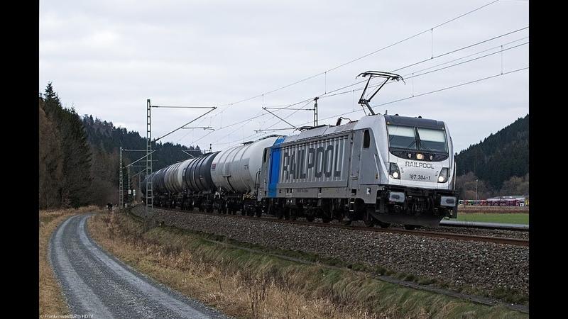 Güterzüge auf der Frankenwaldbahn - Albatros, TXL, RHC, HSL, Feuertaurus, 151 086 uvm.