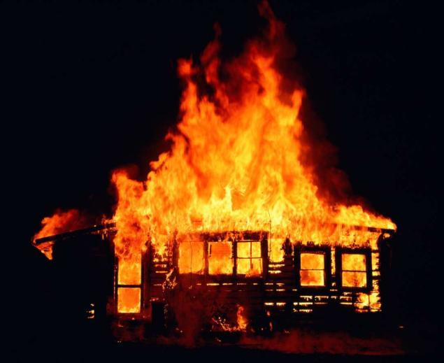 пожар в частном жилом доме