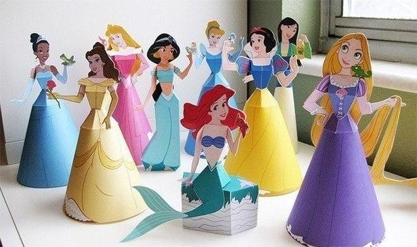 Бумажные диснеевские куклы. (10 фото) - картинка