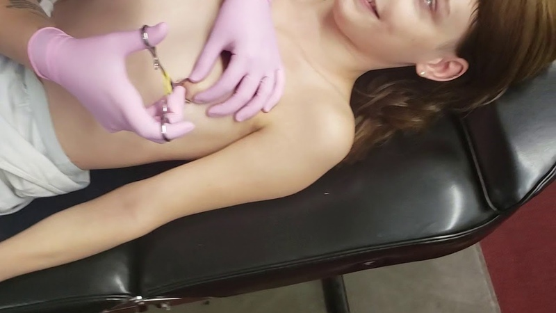Hannah Getting Her Nipples Done.
