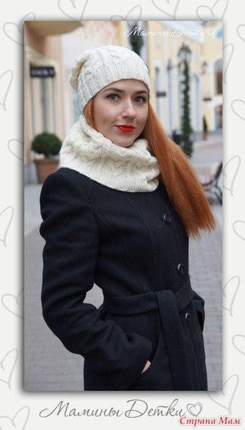 Комплект шапочка и снуд Городские узоры… (8 фото) - картинка