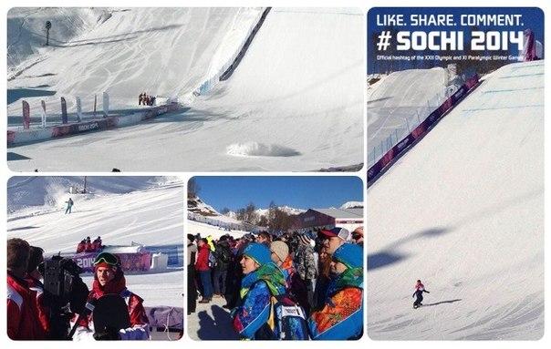 Солнечное утро в экстрим-парке #Sochi2014: первое соревнование в Горном кластере - оно же дебют слоупстайла на Играх! И настроение 100% олимпийское!