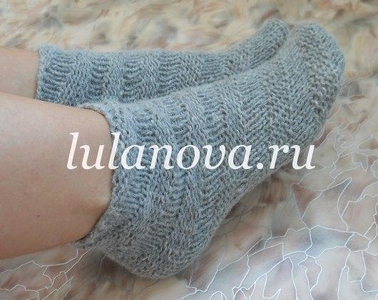 видео урок вязание крючком носки уланова