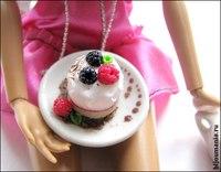 """Все сладости как всегда ручной работы.  Миниатюра для кукол  """"Сладкое утро """" ."""