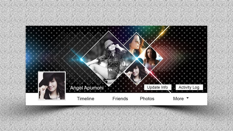How to Create an Abstract Facebook Cover Photo - Photoshop Tutorial