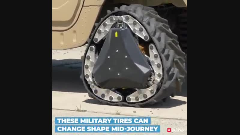 Interesting Engineering - These shape-shifting military tires can transform into tracks via Defense Advanced Research Projects A