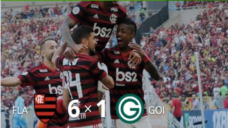 Flamengo 6 x 1 Goiás - Gols Melhores Momentos (COMPLETO) - Brasileirão 2019