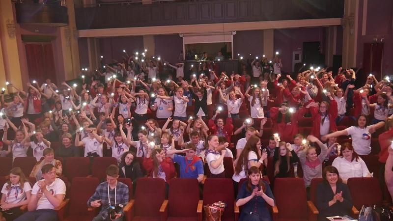 Ответное приветствие тюменских школьников белорусским пионерам