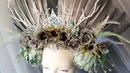 Корона из перьев и цветов ЛисьяМастерская